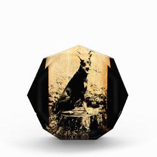 (犬)ドーベルマン・ピンシェルのヴィンテージの古い写真 表彰盾