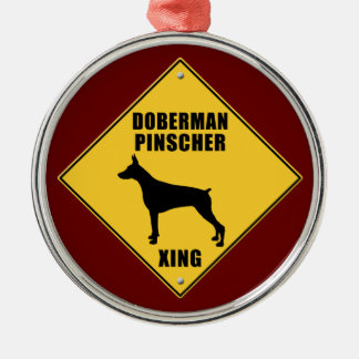 (犬)ドーベルマン・ピンシェルの交差(XING)の印 メタルオーナメント