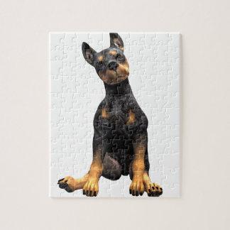 (犬)ドーベルマン・ピンシェルの子犬のモデル ジグソーパズル