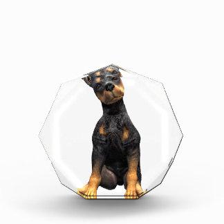 (犬)ドーベルマン・ピンシェルの子犬のモデル 表彰盾