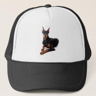 (犬)ドーベルマン・ピンシェルの小犬の野球帽 キャップ