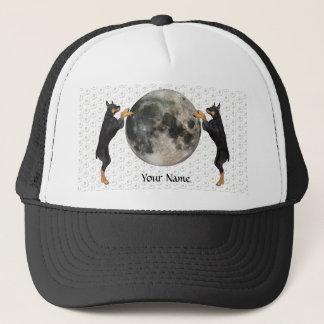 (犬)ドーベルマン・ピンシェルの月 キャップ
