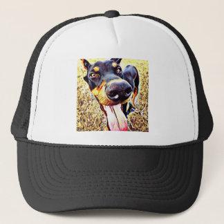 (犬)ドーベルマン・ピンシェルの渦巻のペンキ1 キャップ