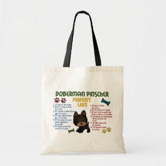 (犬)ドーベルマン・ピンシェルの特性の法律4 トートバッグ
