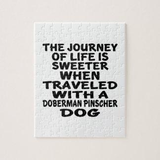 (犬)ドーベルマン・ピンシェルの生命パートナーと走行される ジグソーパズル