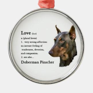 (犬)ドーベルマン・ピンシェルの芸術愛は…あります メタルオーナメント
