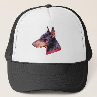(犬)ドーベルマン・ピンシェルの顔の帽子 キャップ