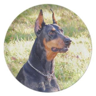 (犬)ドーベルマン・ピンシェルのHeadshot プレート