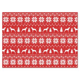 (犬)ドーベルマン・ピンシェルはクリスマスパターンのシルエットを描きます 薄葉紙