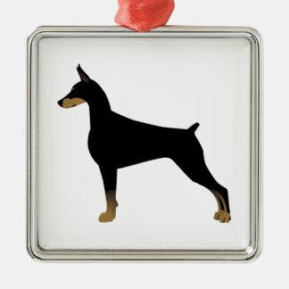 (犬)ドーベルマン・ピンシェル基本的な犬の品種絵 メタルオーナメント