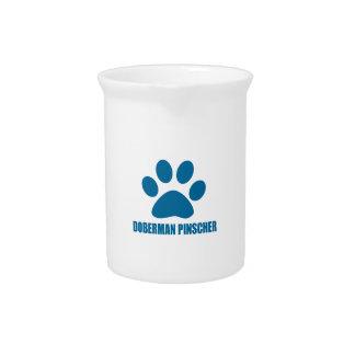 (犬)ドーベルマン・ピンシェル犬のデザイン ピッチャー