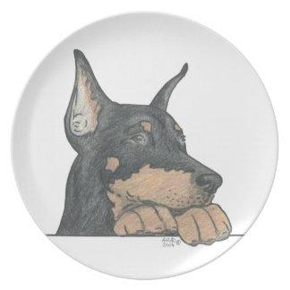 (犬)ドーベルマン・ピンシェル犬のプレート プレート