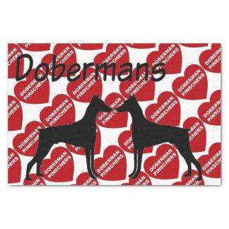 (犬)ドーベルマン・ピンシェル犬の愛のため 薄葉紙