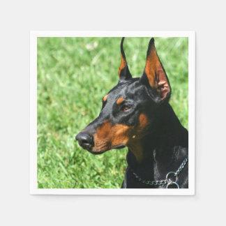 (犬)ドーベルマン・ピンシェル犬 スタンダードカクテルナプキン