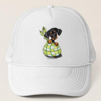 (犬)ドーベルマン・ピンシェル袋子犬 キャップ