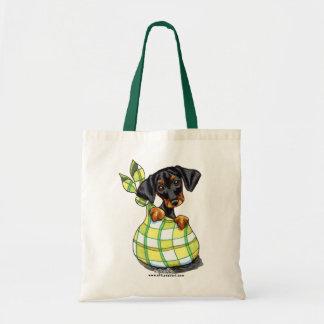 (犬)ドーベルマン・ピンシェル袋子犬 トートバッグ