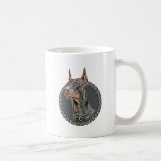 (犬)ドーベルマン・ピンシェル001 コーヒーマグカップ