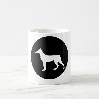 (犬)ドーベルマン・ピンシェル コーヒーマグカップ