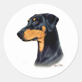 (犬)ドーベルマン・ピンシェル ラウンドシール