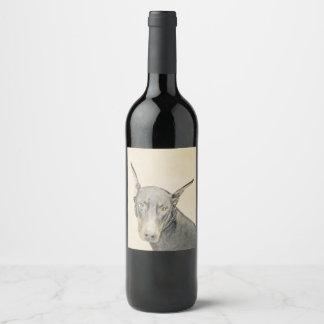 (犬)ドーベルマン・ピンシェル ワインラベル