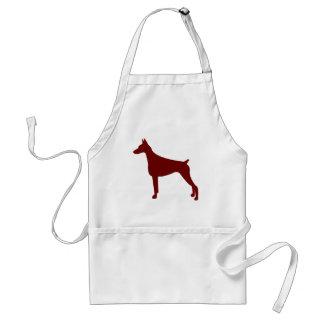 (犬)ドーベルマン・ピンシェル(赤い) スタンダードエプロン