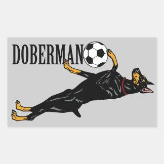 (犬)ドーベルマン・ピンシェル 長方形シール