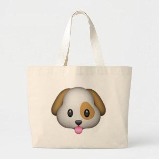 犬- Emoji ラージトートバッグ
