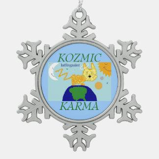 犬nの宇宙KOZMICカルマLAFFINGSAINTのオーナメント スノーフレークピューターオーナメント
