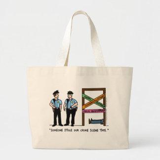 犯罪現場のバッグ ラージトートバッグ