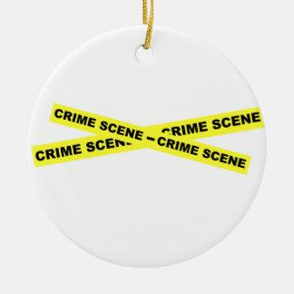 犯罪現場テープ セラミックオーナメント