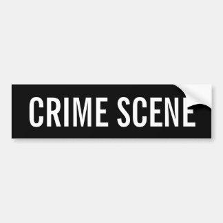 犯罪現場-白いロゴの紋章 バンパーステッカー