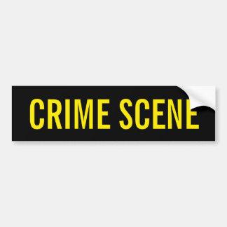 犯罪現場-金黄色いロゴの紋章 バンパーステッカー