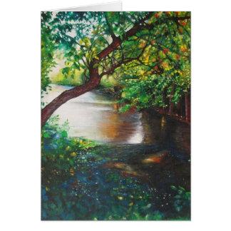 狂暴な川の絵画、ロックフォードのMIの挨拶状 カード