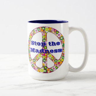 狂気をストップ ツートーンマグカップ