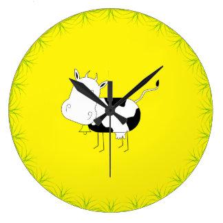 狂牛の円形の時計 ラージ壁時計