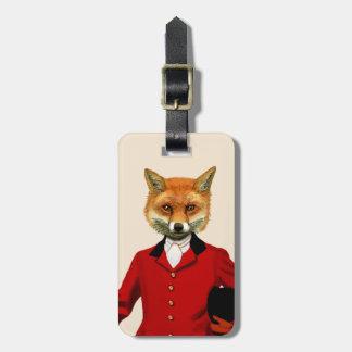 狐狩りをする人2のポートレート2 ラゲッジタグ