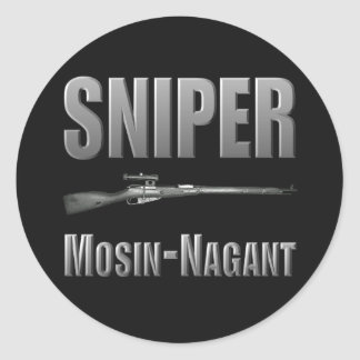 狙撃兵のMosin-Nagantのステッカー ラウンドシール