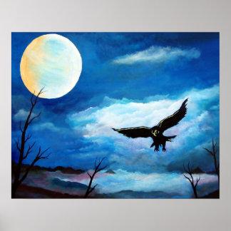 狩りのタカ夜月 ポスター