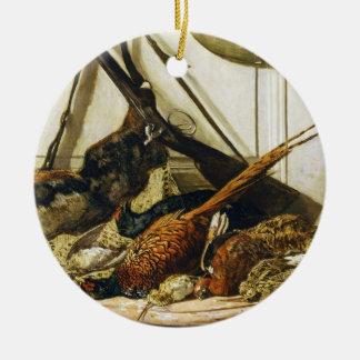 狩りのトロフィ、1862年のクロード・モネ セラミックオーナメント