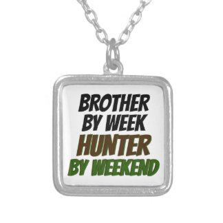 狩りの兄弟 シルバープレートネックレス