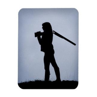 狩りの女の子 マグネット