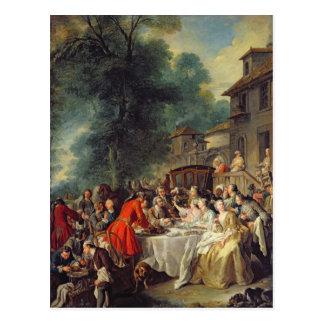 狩りの昼食1737年 ポストカード