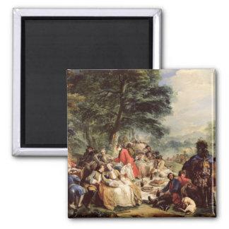 狩りの昼食1737年 マグネット