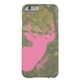 狩りの迷彩柄及びピンクのシカの頭部のiPhone6ケース Barely There iPhone 6 ケース
