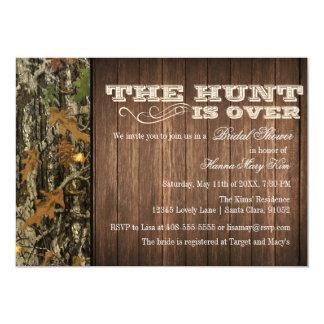 狩りはブライダルシャワーの招待状にあります カード