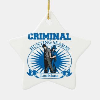狩猟期のルイジアナの刑事警察 セラミックオーナメント