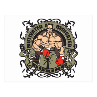 独創力のあるボクシング ポストカード