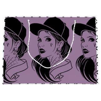 独創的な女の子 ラージペーパーバッグ