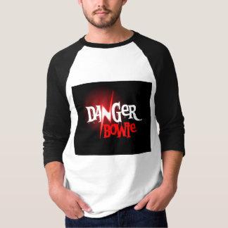 独占的な危険のBowieの野球のワイシャツ Tシャツ