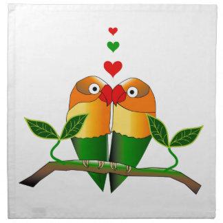 独占的な布のテーブルナプキンの愛鳥 ナプキンクロス